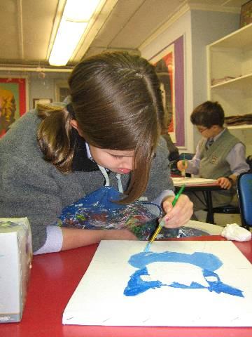 Darlington School: 'Blue Dog' Paintings in Progress